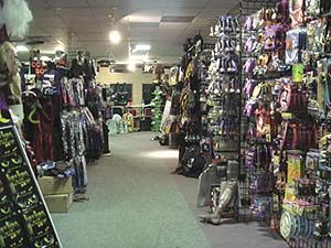 this place is great its huge inside and has everything you could possibly want for halloween costumes wigs props decorations party stuff